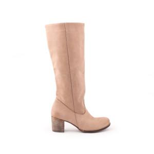 Krásne dámske kožené topánky farba cappuccino