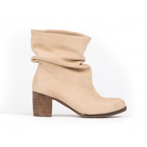 Béžové pohodlné dámske kožené topánky
