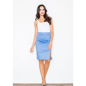 Elegantná dámska sukňa modrej farby