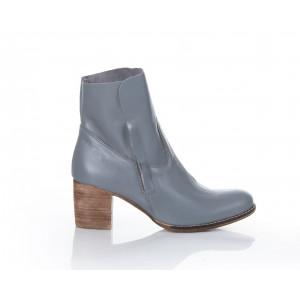 Dámske módne sivé topánky z pravej kože