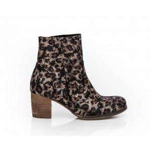 Luxusné dámske kožené topánky farba zlaté listy