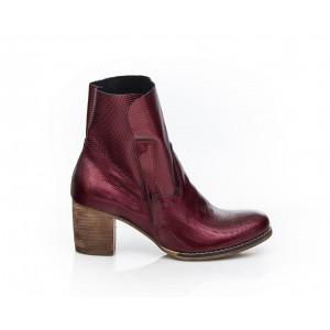 Bordové dámske lakované kožené topánky
