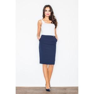 Tmavo modrá dámska sukňa