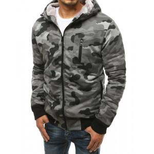 Pánska army zateplená bunda šedej farby