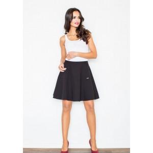 Štýlová dámska sukňa v čiernej farbe