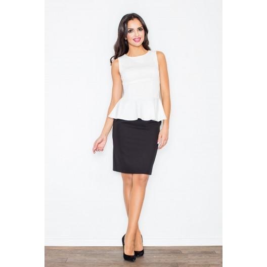 Elegantná dámska čierna sukňa