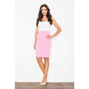 Spoločenská ružová sukňa pre dámy