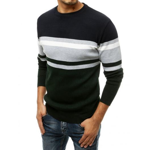Pánsky sveter zeleno sivej farby