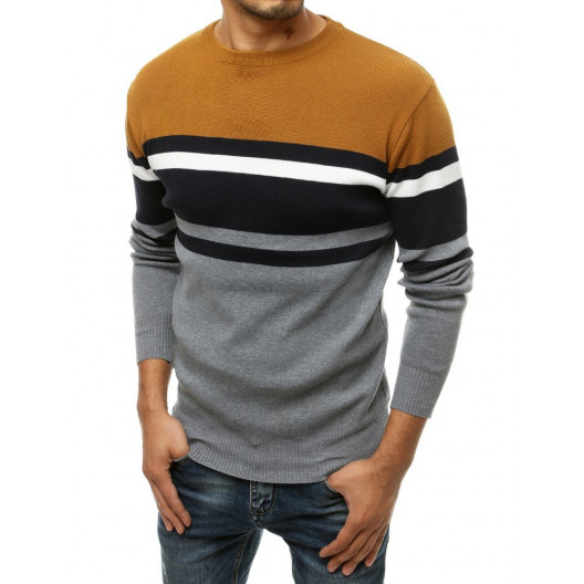 Pánsky hnedo-sivý sveter
