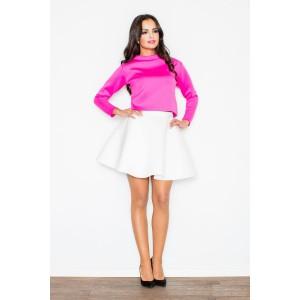 Dámske elegantné sukne bielej farby