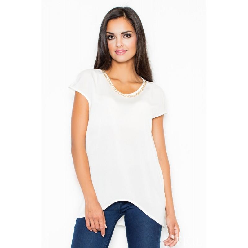 4db113e6997b Dámska dlhšia blúzka bielej farby - fashionday.eu