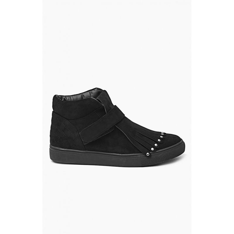 bba99f857c Športové dámske topánky čiernej farby bez podpätku - fashionday.eu