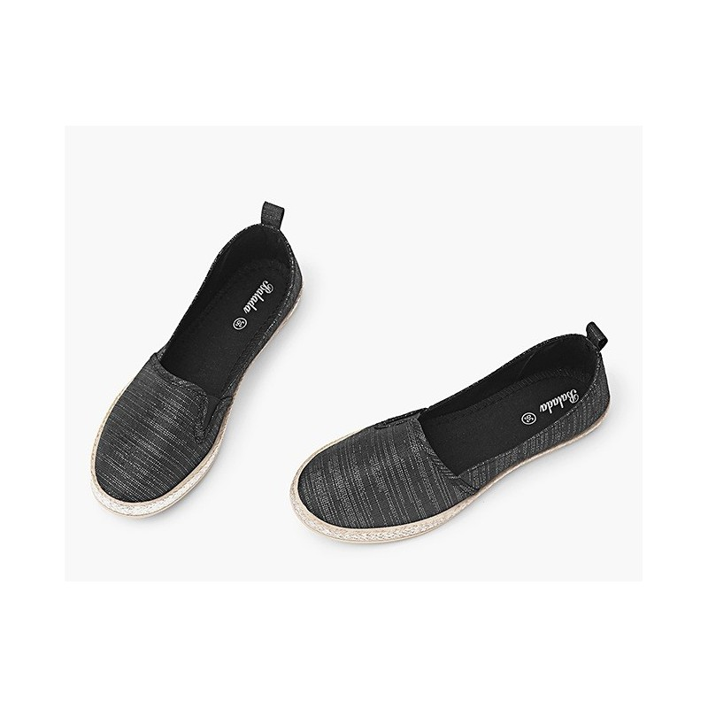 b57df685465f Športové dámske baleríny čiernej farby - fashionday.eu
