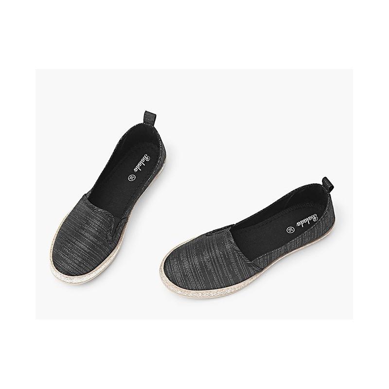 d240bebdc653 Športové dámske baleríny čiernej farby - fashionday.eu
