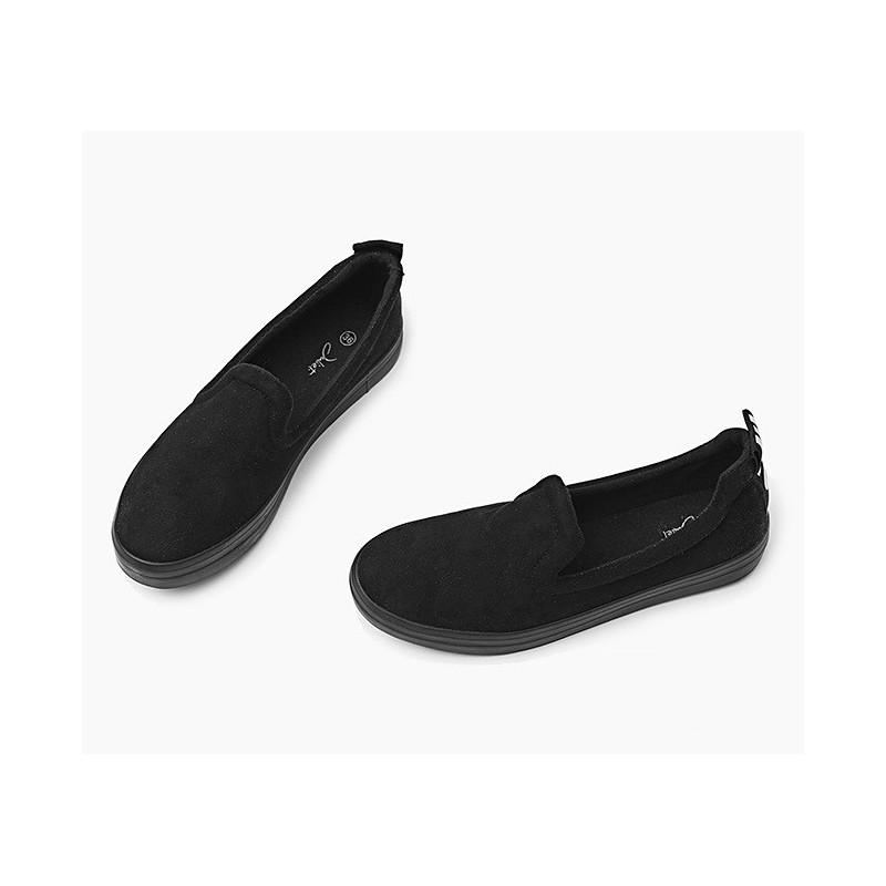 41ebf7490a Pohodlné dámske Slip-on tenisky čiernej farby - fashionday.eu