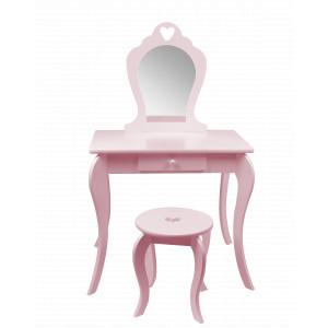 Kvalitný detský toaletný stolík ružovej farby
