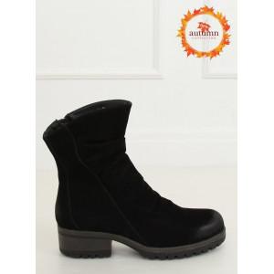 Dámske  nízke čizmy čiernej farby