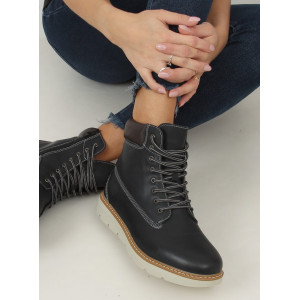 Tmavomodré dámske topánky worker