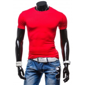 Pánske tričko červenej farby