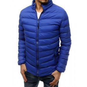 Originálna pánska prechodná modrá bunda do pása