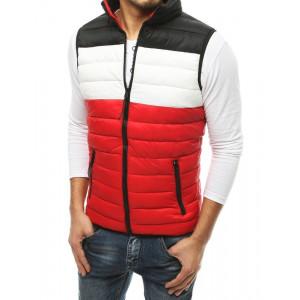 Pánska červená prechodná bunda bez rukávov