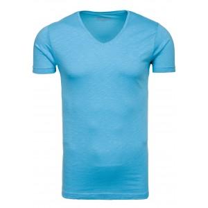 Trendy pánske tričko v blankytne modrej farbe