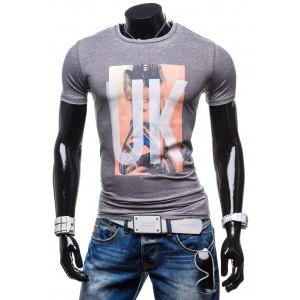 Tričko pre pánov sivej farby s krátkym rukávom