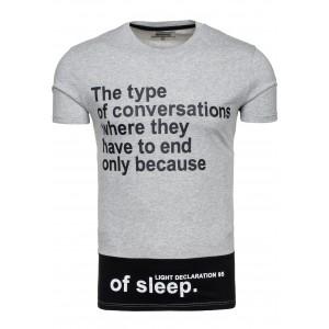 Sivo-čierne tričko pre pánov