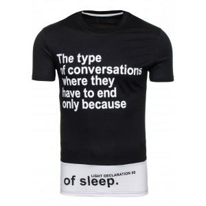 Tričko s nápisom čierno-bielej farby