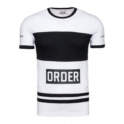 Biele tričko krátky rukáv s čiernym lemom