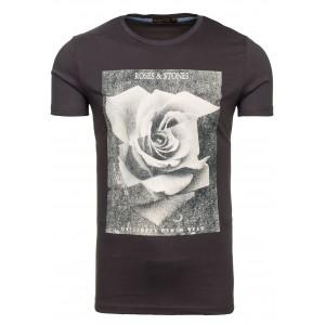 Štylové pánske tričko granátovej farby