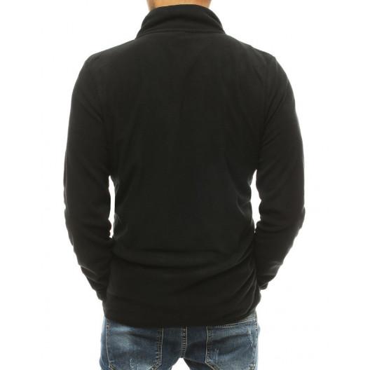 Čierna pánska mikina na zips s bočnými vreckami