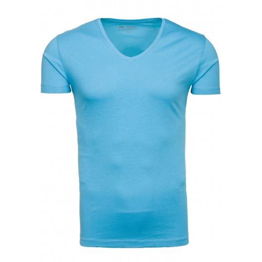 Tričko s krátkym rukávom svetlo modrej farby