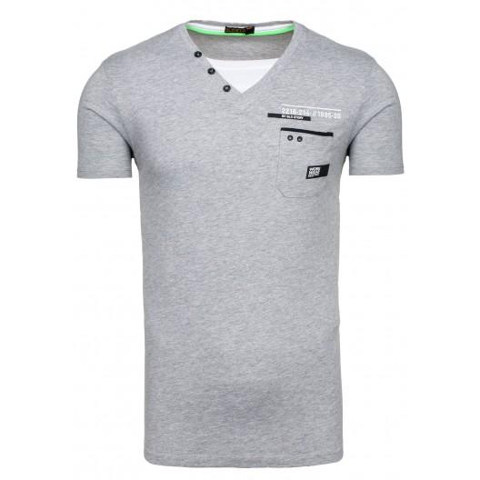 Sivé tričko s krátkym rukávom