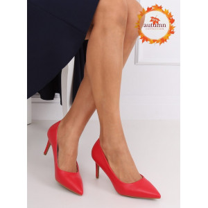 Sexy dámske červené lodičky na vysokom opätku