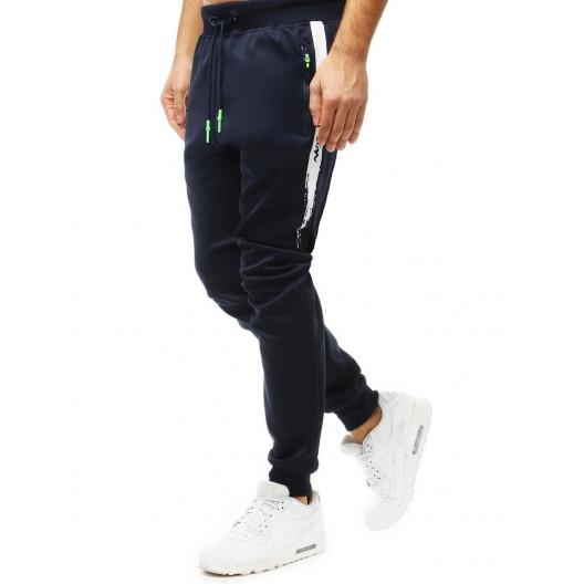 Granátovo modré jogger pánske tepláky