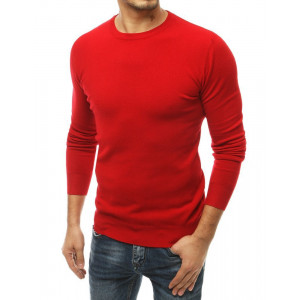 Červený pánsky štýlový sveter pasentného strihu