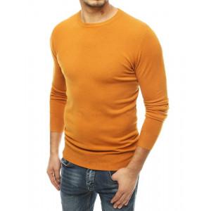 Moderný pánsky sveter v trendy žltej farbe