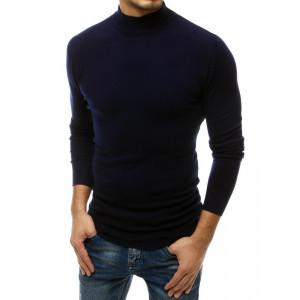 Štýlovy pánsky tmavo modrý sveter s vysokým golierom