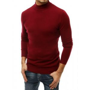 Pasentný pánsky bordový sveter cez hlavu