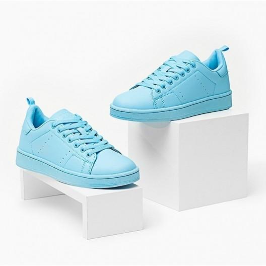 Dámske tenisky pastelovo modrej farby