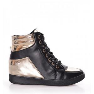 Čierno zlatá dámska športová obuv