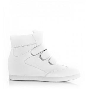 Biele dámske botasky