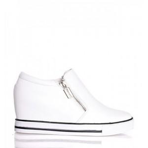 Športová obuv dámska  bielej farby
