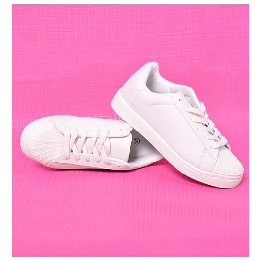 Dámska športová obuv v bielej farbe