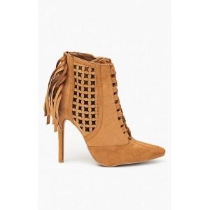 Oranžové dámske topánky so strapcami