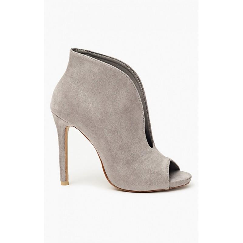 e00ecb6f3c07 Moderné dámske topánky sivej farby - fashionday.eu
