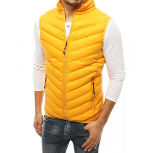 Prechodná pánska prešívaná bunda na zips bez rukávov