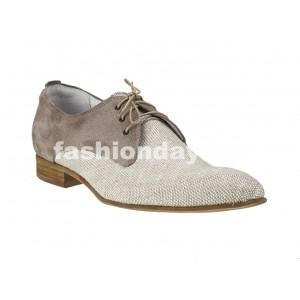 VEĽKOSŤ 39 Pánske kožené extravagantné topánky bežové