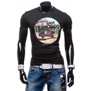 Tričko s potlačou San Francisco čiernej farby